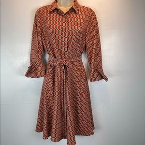 Banana Republic warm combo shirt dress sz 4